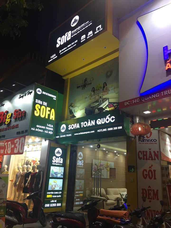 Showroom bán bàn trà và ghế sofa tại Hà Đông - Hà Nội.