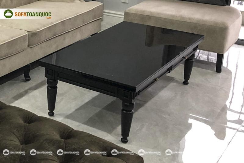 Mẫu bàn trà sofa đẳng cấp, sang trọng mang hơi hướng cổ điển