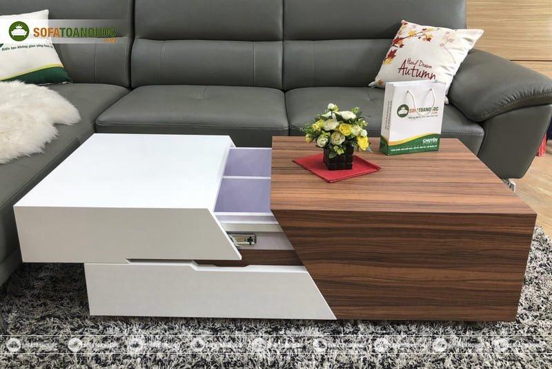 bàn trà sofa ngăn kéo hiện đại sang ngang