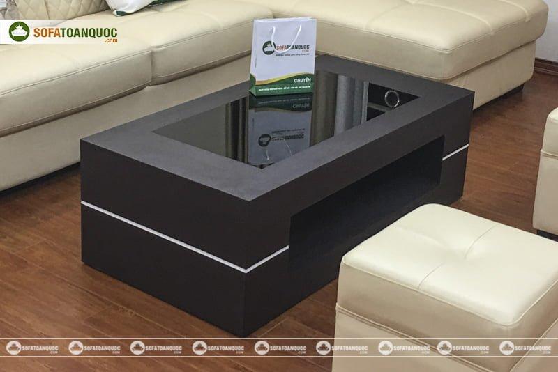Kiểu dáng sang trọng, dễ bài trí khi kết hợp bàn trà và ghế sofa