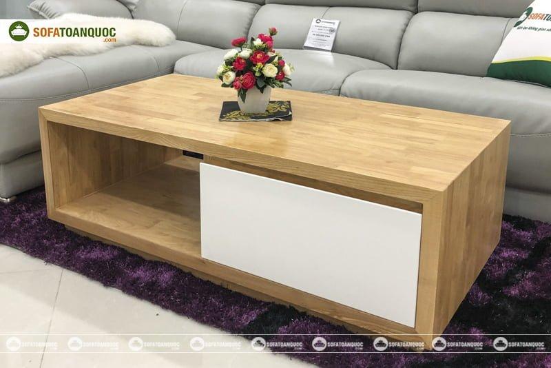 Chất liệu gỗ tự nhiên kết hợp gỗ công nghiệp sang trọng và tiện dụng