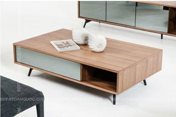 Bàn trà sofa bằng gỗ công nghiệp chiều cao chân thấp/