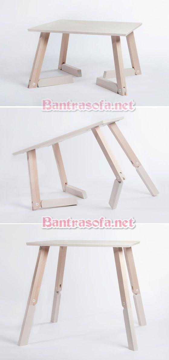 bàn trà chân gấp đẹp bằng gỗ