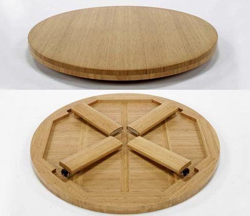 bàn trà chân gấp gọn bằng gỗ