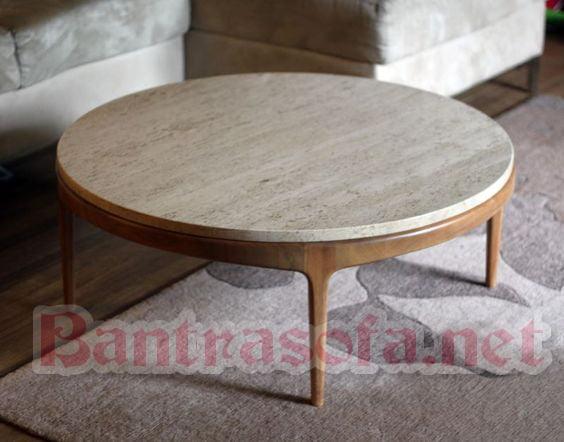 Mẫu bàn trà gỗ hình tròn đẹp cho phòng khách