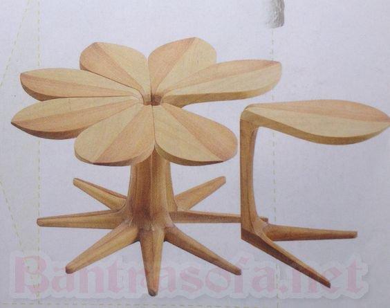 bàn trà gỗ hình tròn đẹp cho phòng khách