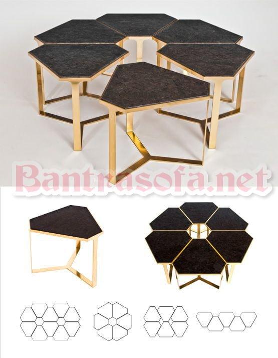 mẫu bàn trà gỗ dạng xếp hình độc đáo