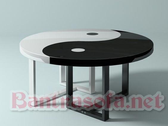 mẫu bàn trà gỗ tròn đẹp
