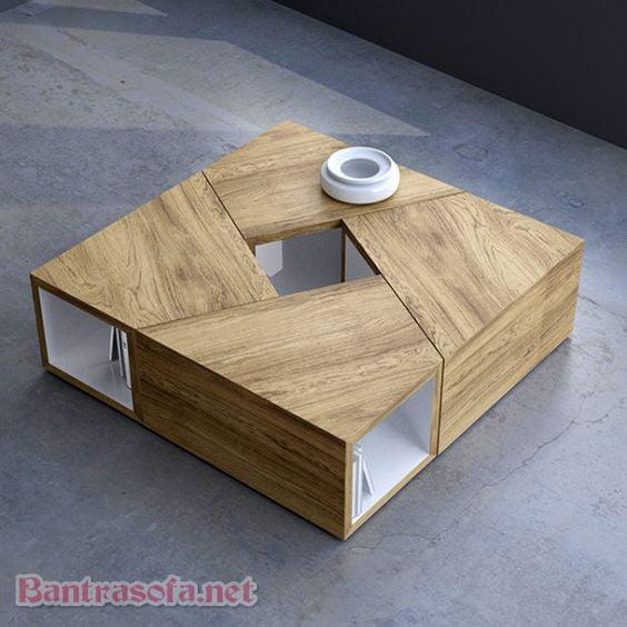 bàn trà sofa hình vuông đẹp cho phòng khách