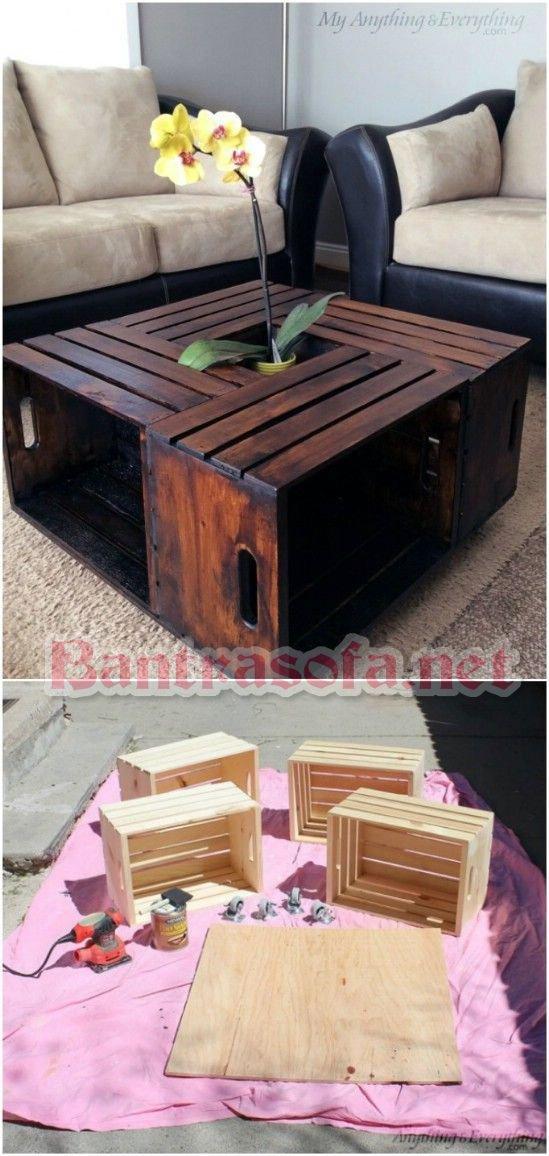 bàn trà hình vuông handmade
