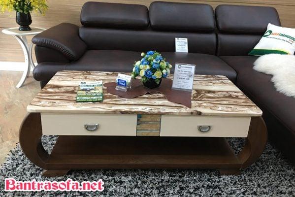 bàn trà sofa mặt đá đẹp BT820