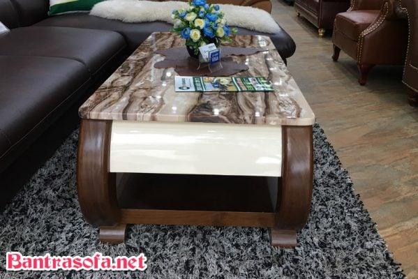 bàn trà sofa gỗ mặt đá