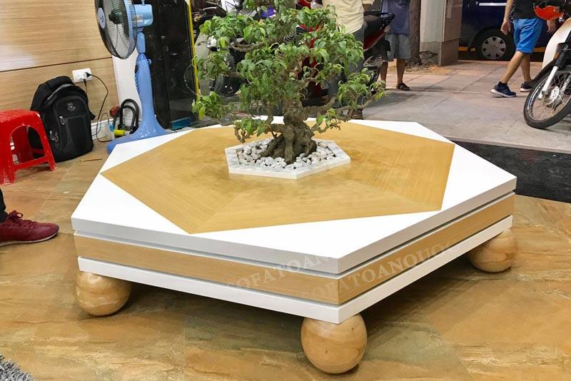 Chất liệu gỗ tự nhiên kết hợp gỗ công nghiệp Sồi Đỏ Mỹ sang trọng