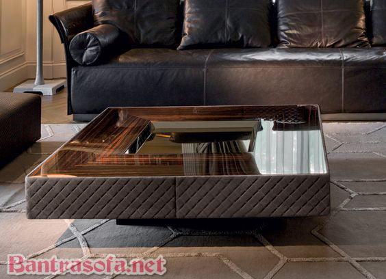 bàn trà sofa hình vuông đẹp cho phòng khách thêm sang