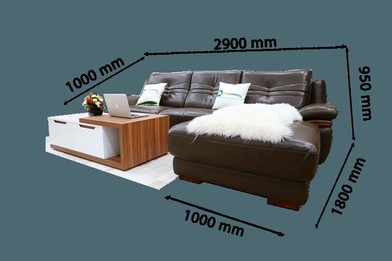 Kích thước bàn trà sofa phụ thuộc khá nhiều vào ghế sofa cũng như diện tích căn phòng