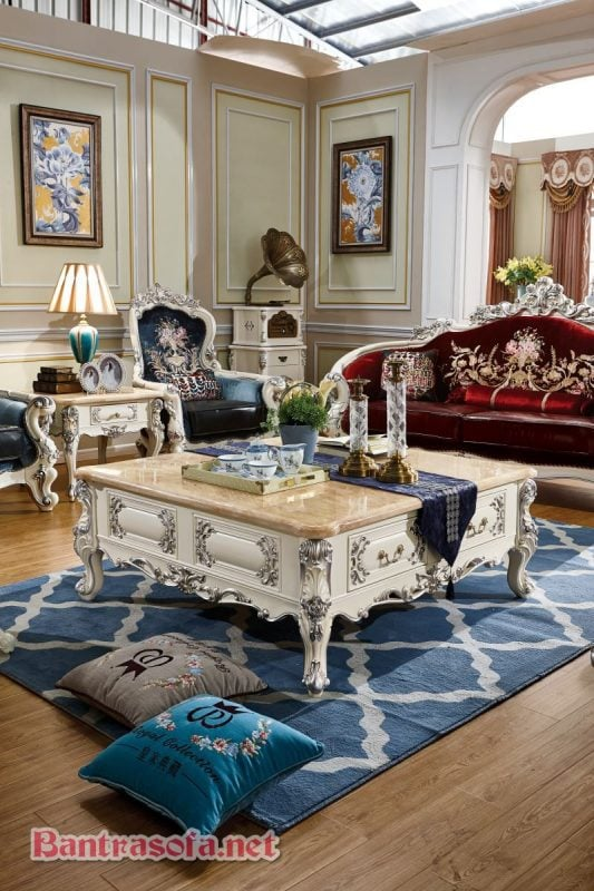 bàn trà sofa mang phong cách tân cổ điển đẹp