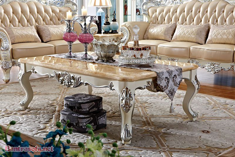 bàn trà sofa tân cổ điển đẹp