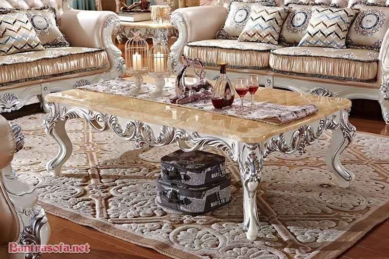 bàn trà gỗ công nghiệp phong cách tân cổ điển
