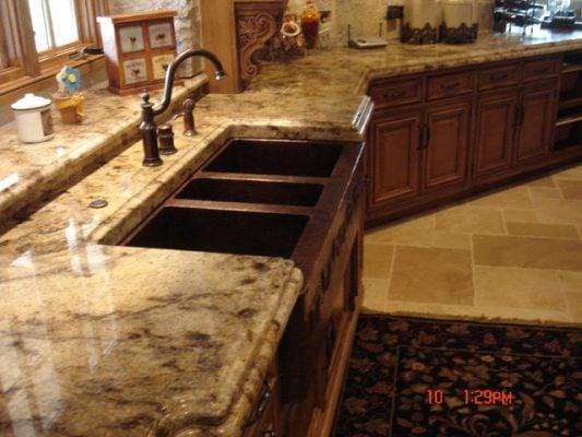 đá hoa cương nhân tạo ứng dụng trong phòng bếp