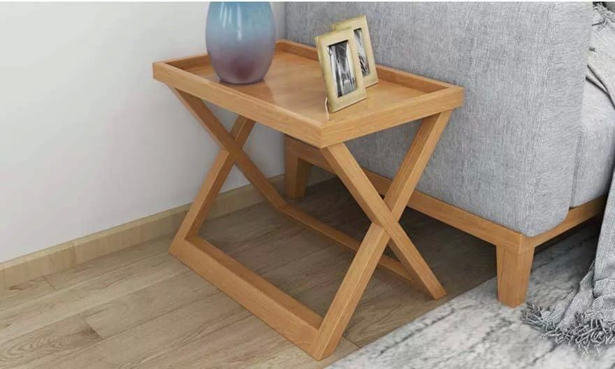 bàn trà gỗ sử dụng ngoài ban công