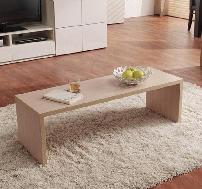 bàn trà gỗ phong cách đơn giản