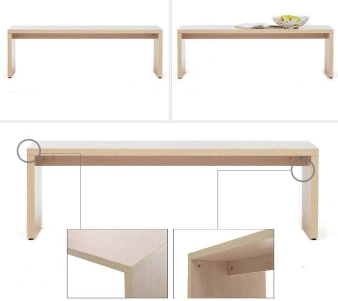 bàn trà gỗ công nghiệp kiểu dáng đơn giản