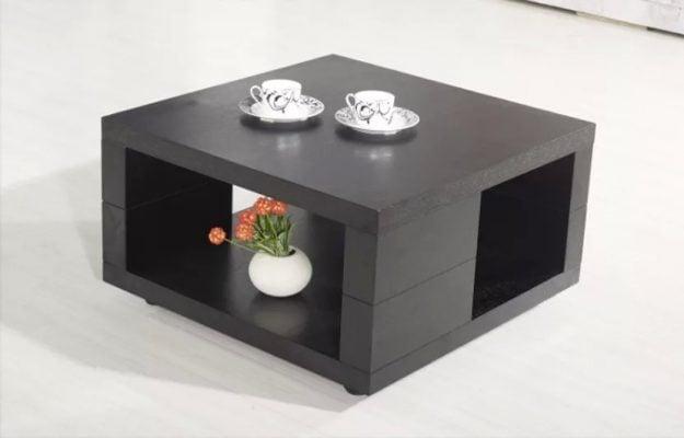 Bàn trà hình vuông lạ mắt cho không gian phòng khách gia đình