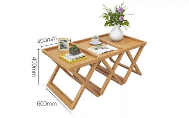 bàn trà giá rẻ chân gấp