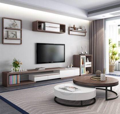 Bàn trà tròn đôi đẹp và lạ trong không gian phòng khách