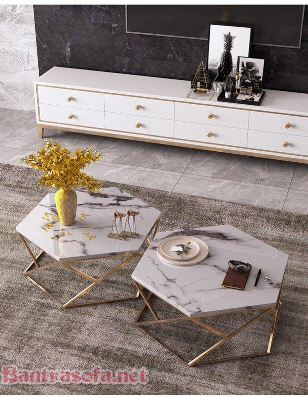 bàn trà sofa mặt đá đẹp