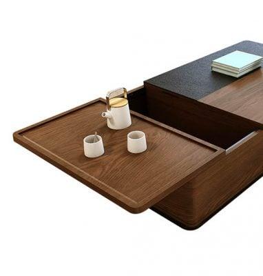 bàn trà đa năng nhiều ngăn kéo