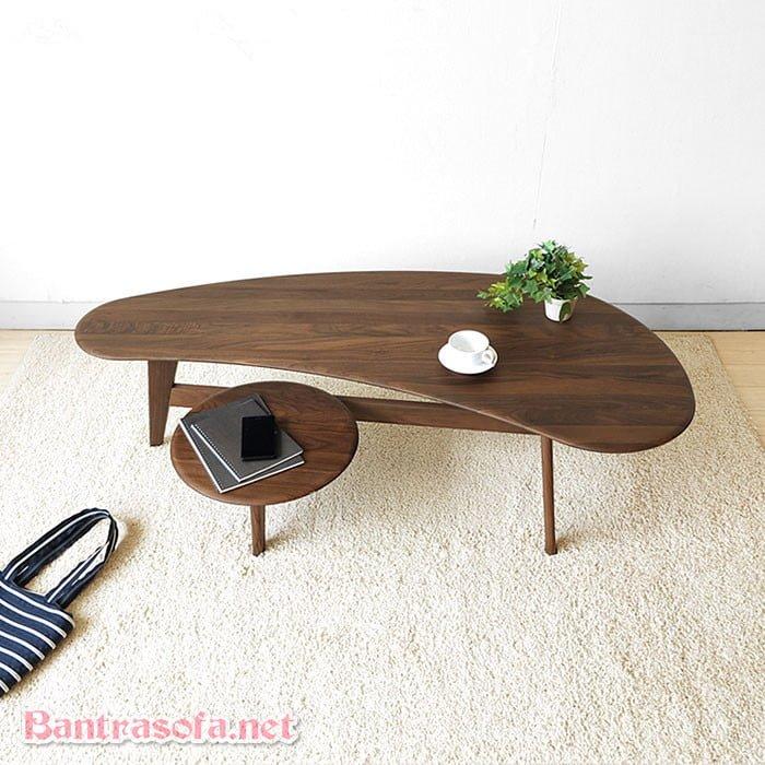 bàn trà sofa đôi ngồi xổm phong cách Nhật