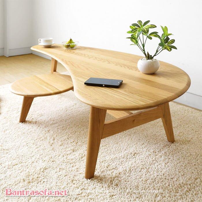 bàn trà đôi gỗ tự nhiên ngồi bệt