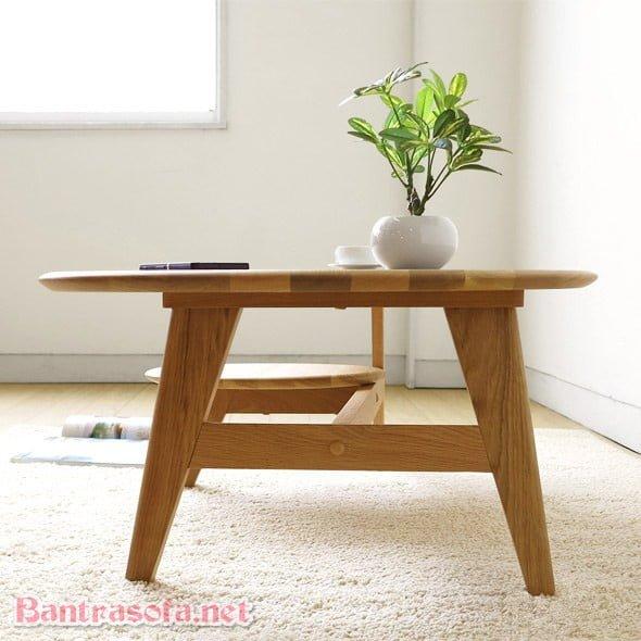 bàn trà sofa sử dụng gỗ tự nhiên