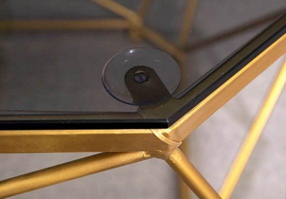 bàn trà mặt kính chân sắt đẹp