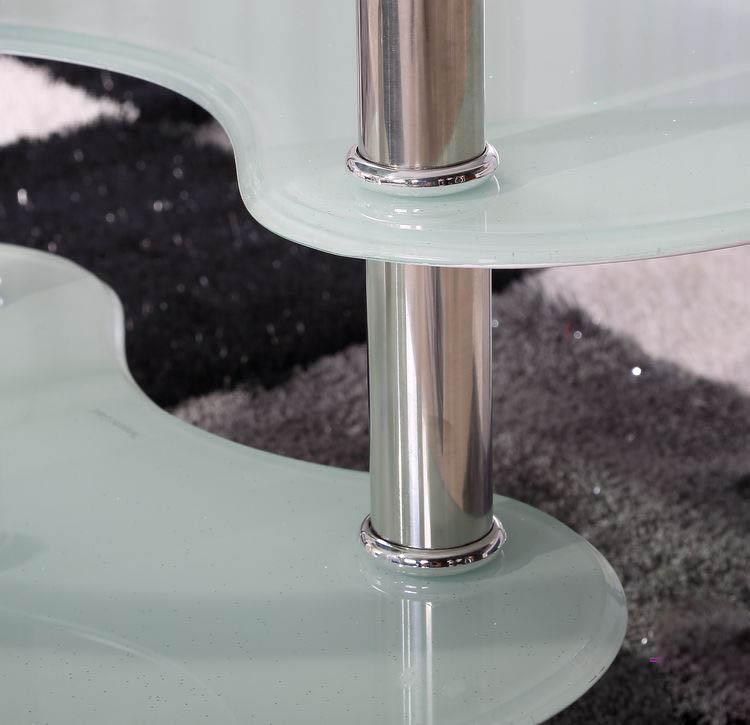 chân ghế inox bàn trà kính.