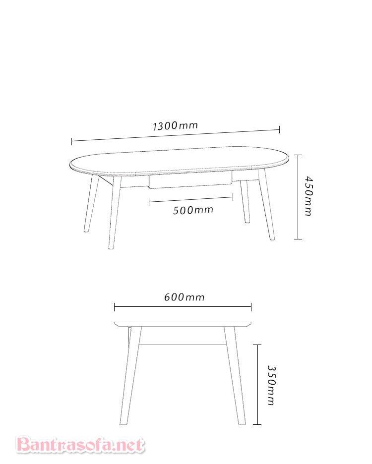 kích thước bàn trà gỗ btg10