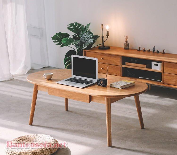 bàn trà sofa gỗ tự nhiên