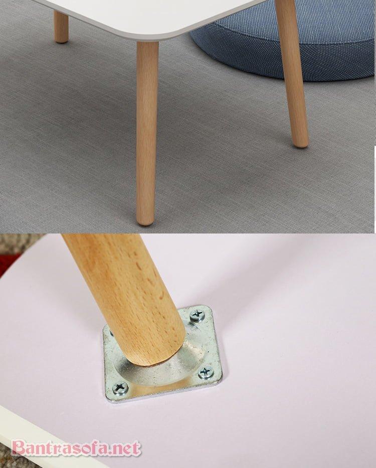 chân ghế gỗ sồi chắc chắn
