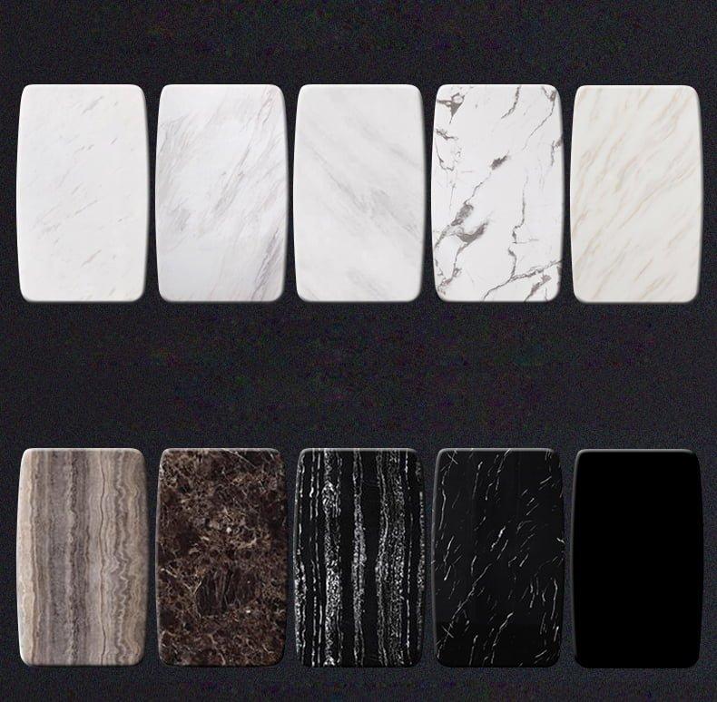 tự do lựa chọn màu sắc và hoa văn của mặt đá marble