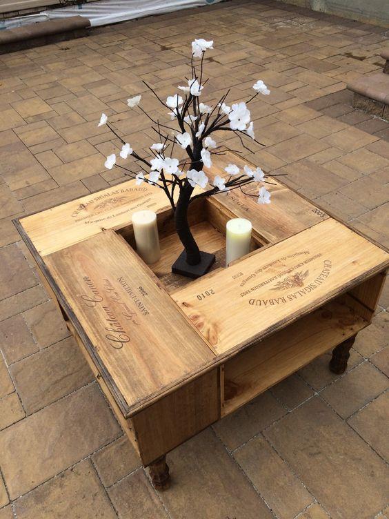 bàn trà hình vuông bằng gỗ đẹp