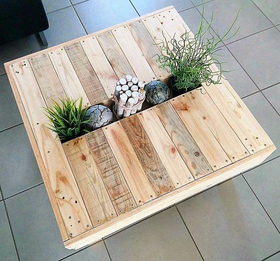 bàn trà gỗ pallet độ bền không cao