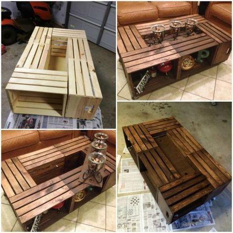 bàn trà gỗ pallet hình chữ nhật