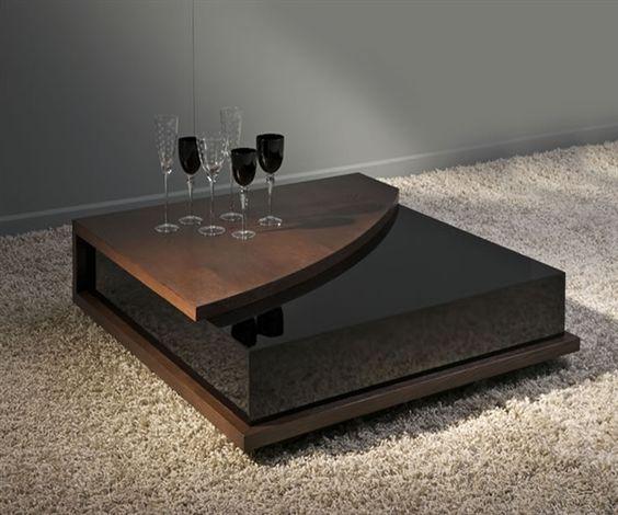 bàn trà sofa đẹp sử dụng mặt kính vuông