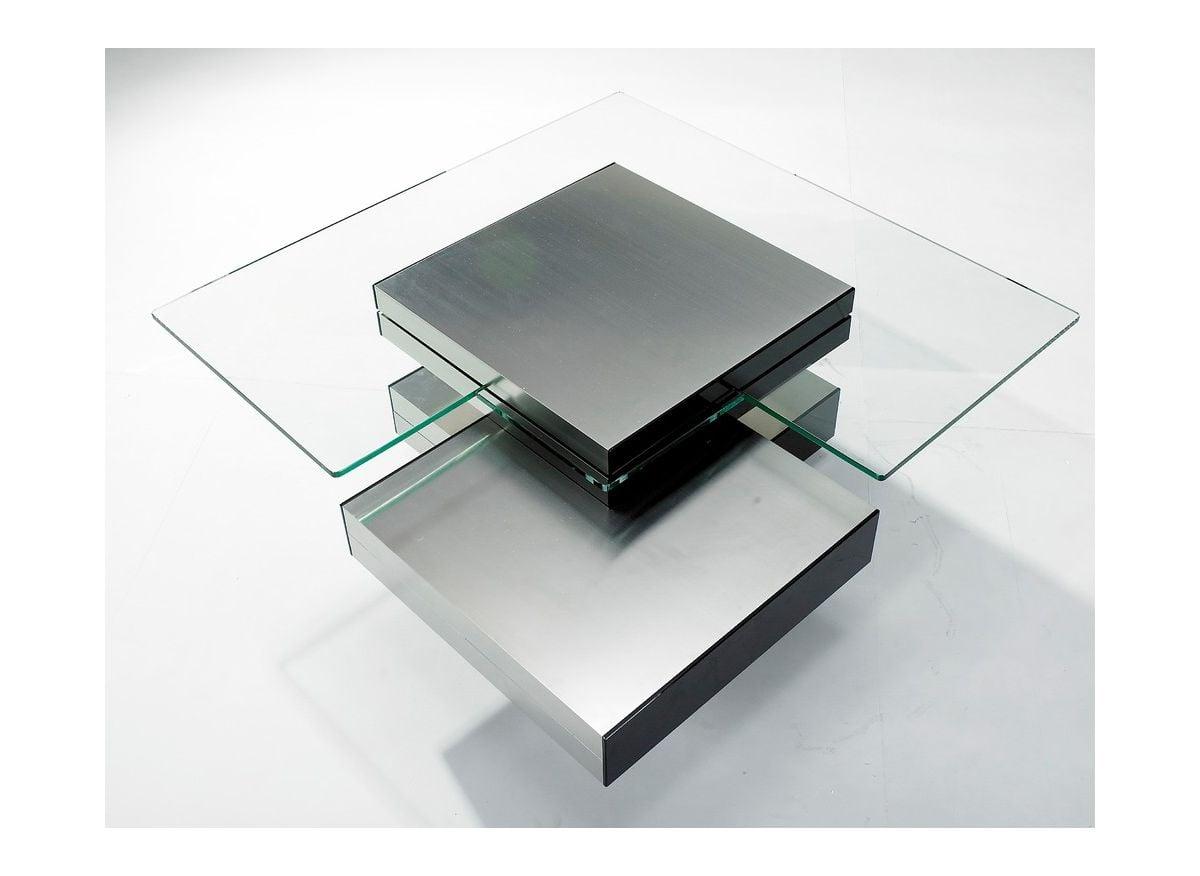 bàn trà gỗ công nghiệp mặt kính trong suốt