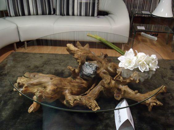 bàn trà soFa mặt kính gốc cây