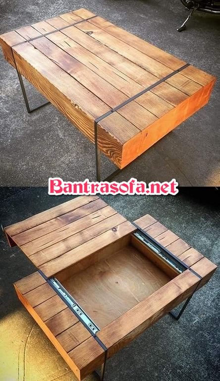 bàn trà gỗ chân sắt đẹp
