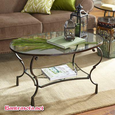 bàn sofa cổ điển chân sắt