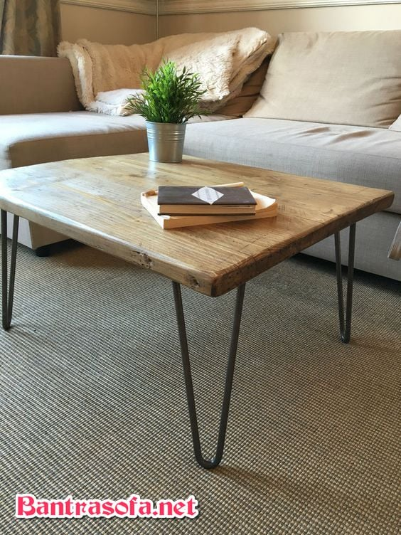 bàn trà gỗ chân sắt
