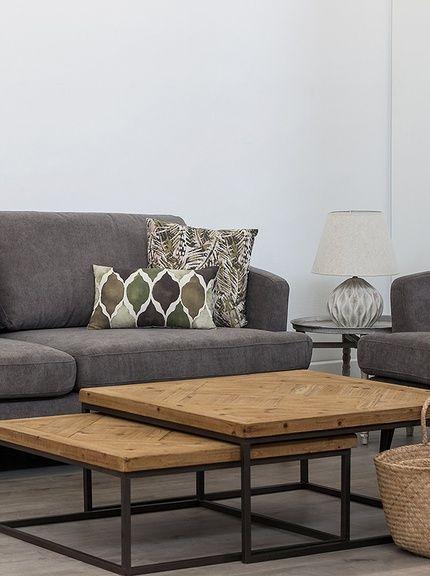 bàn trà sofa hình vuông chân sắt